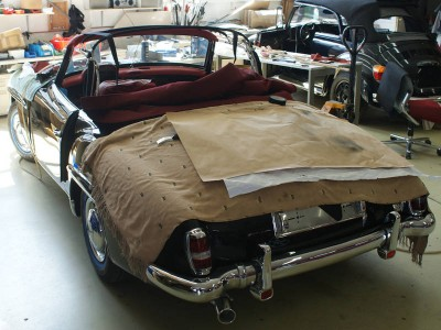 MB Sl190 cabriodak montage