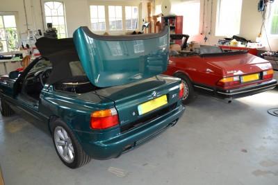BMW Z1 softtop montage