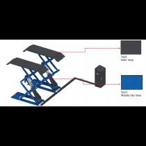 E-plus ECO3000 LITE schaarhefbrug opbouw wielvrij ROOD en BLAUW