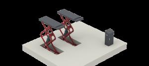 MS301 inbouwschaarhefbrug