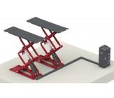 E-plus ECO3000 schaarhefbrug opbouw wielvrij ROOD en BLAUW
