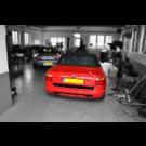 BMW Z1 gemonteerd in de werkplaats